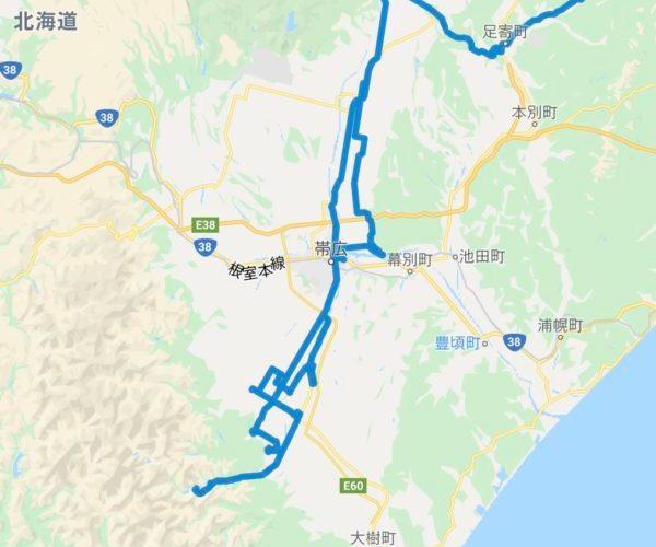 北海道のまっすぐな道が好きなら、帯広、斜里、小清水、別海、中標津~