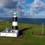【能取岬灯台】能取岬~北海道~青い空、緑の平原、青い海にオホーツクの北風と。絶景