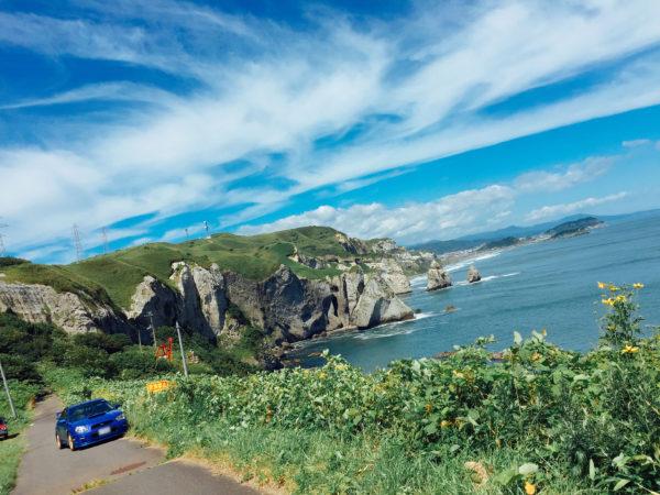 【北海道・ドライブ】室蘭八景 トッカリショ 青い空緑の岬 絶景 2016年8月