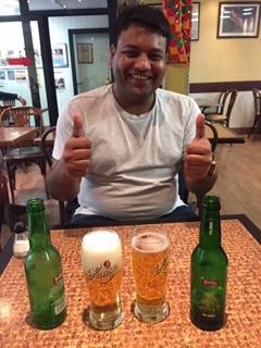 Ganesh and Norwegian beer