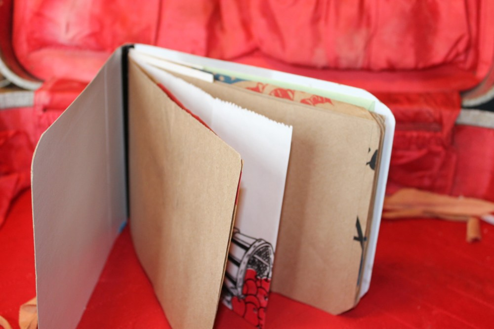 15 Days of Handmade--Day #1 Baton-Twirlers and Red-Winged Blackbird Recycled Journal