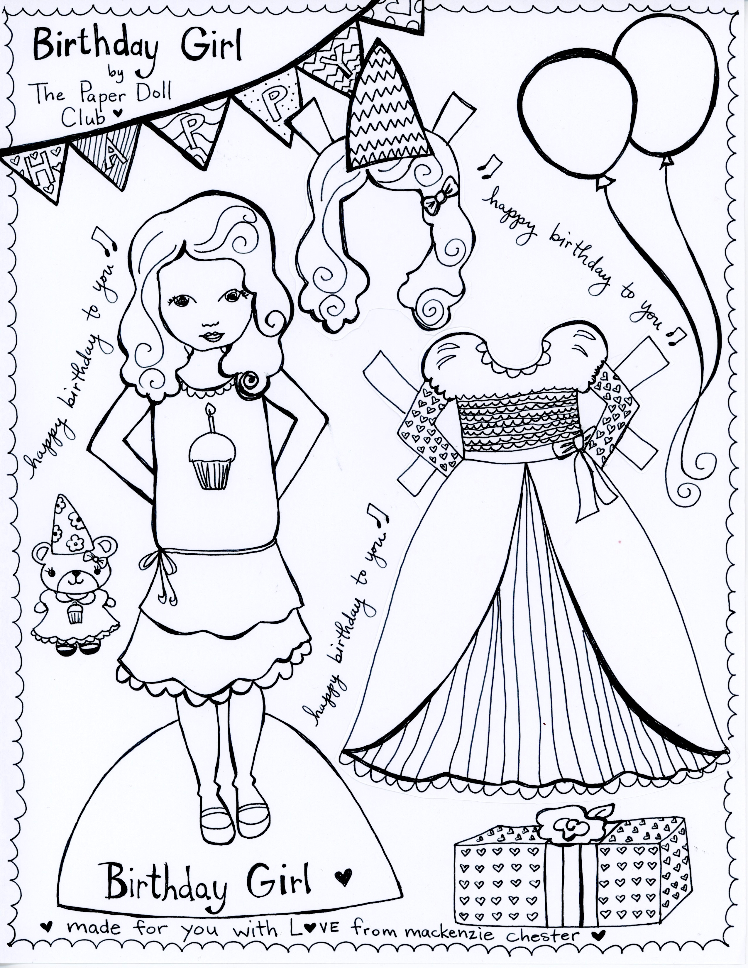 picture regarding Free Printable Paper Dolls Black and White identify Alice inside Wonderland and The Birthday Women, Paper Doll Club