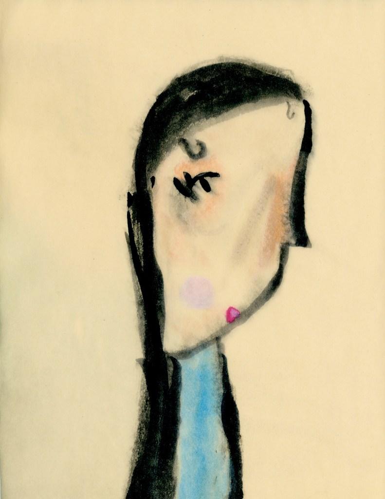 Dark-haired Girl by Rosie, age 7