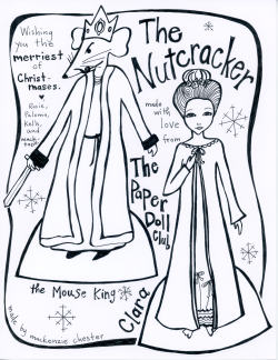 Nutcracker paper doll by Mackenzie Chester