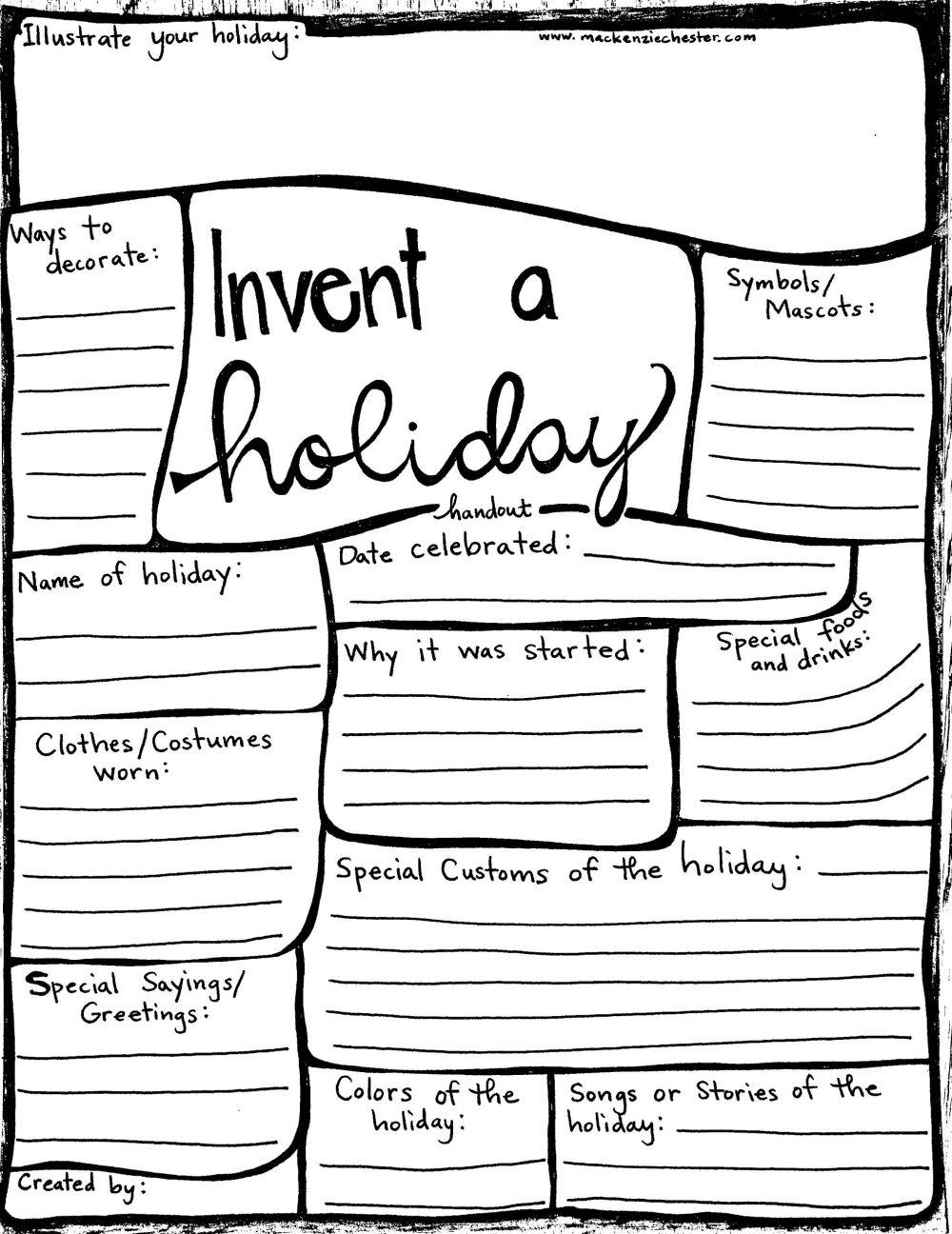 invent a holiday handout free printable creative family idea box sacred everyday creative family culture mackenziechester