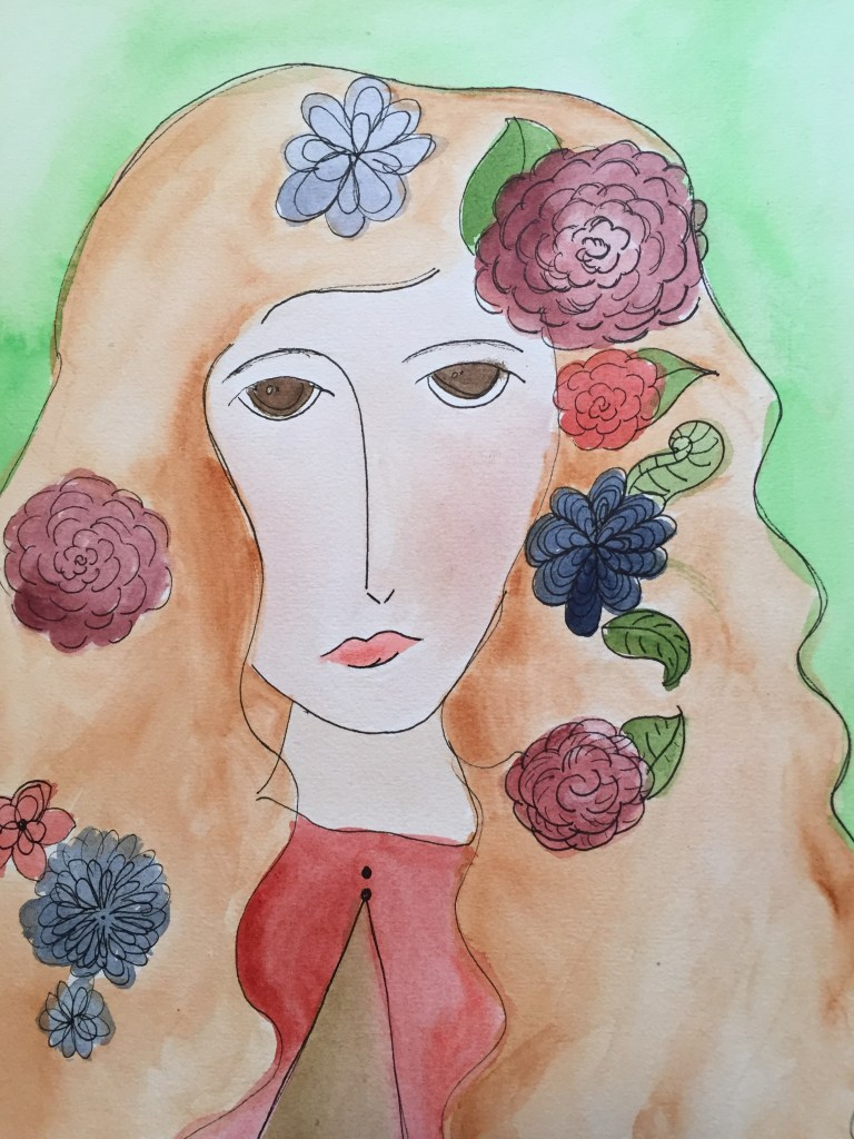 creative family culture, sacred everyday, watercolors by children