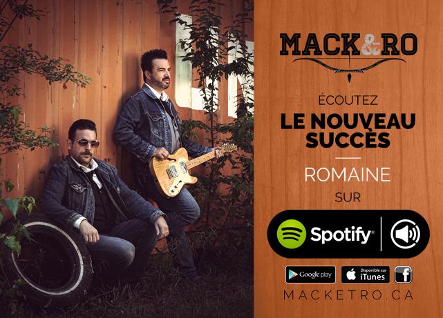 Écoutez Romaine, de Mack et Ro, sur le site de streaming musical Spotify!