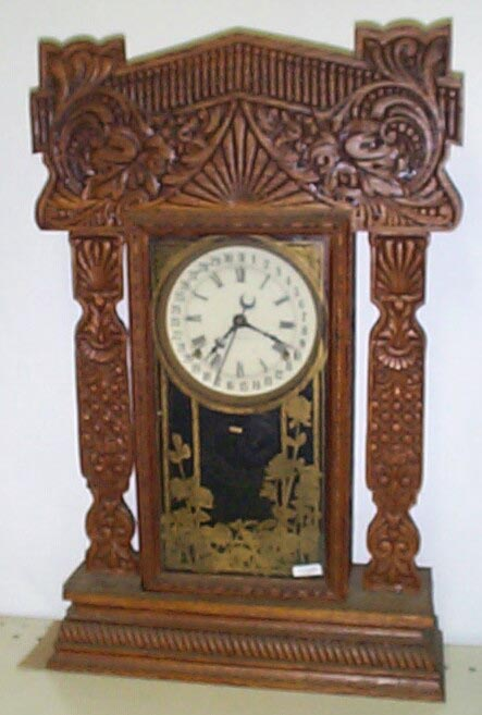 gilbert kitchen clock photos of outdoor kitchens and bars antique mantel clocks mackey s repair parkersburg wv