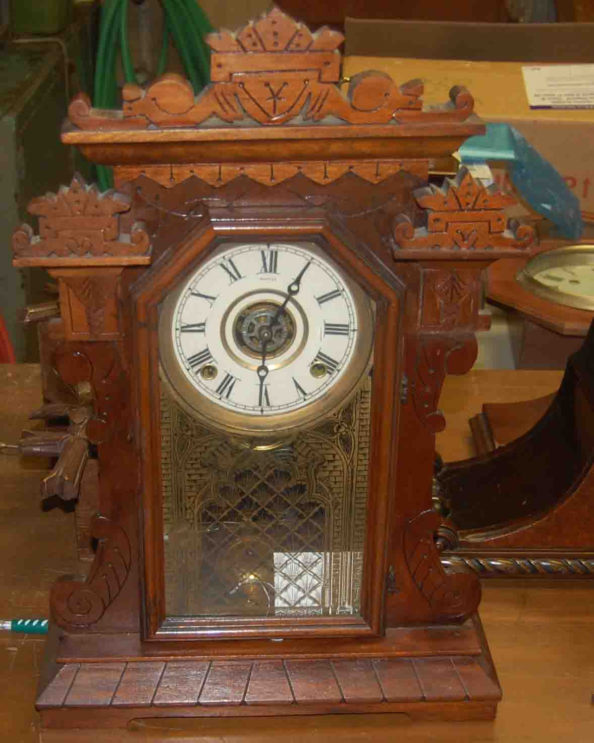 gilbert kitchen clock sink size for antique mantel clocks mackey 39s