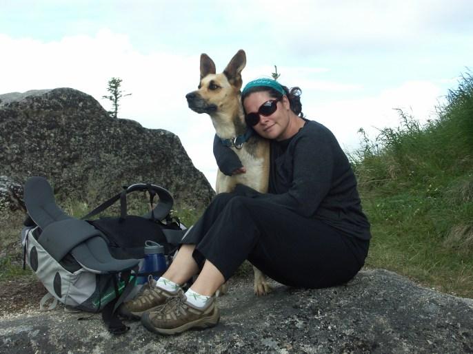Minty & Brenda hiking