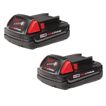 M18 REDLITHIUM™ Compact Battery Two Pack