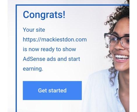 Adsense approval tricks : Mackiestdon.com Adsense Approval E-mail