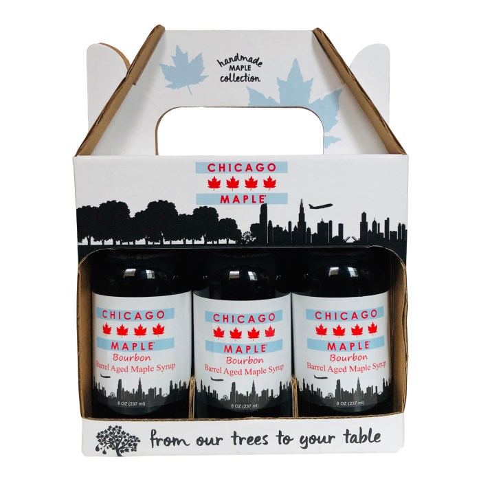 Gift box of maple syrup from Chicago Maple