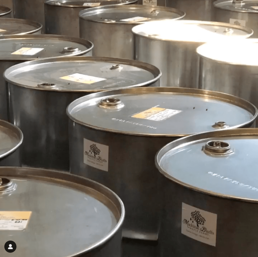 barrels of maple syrup