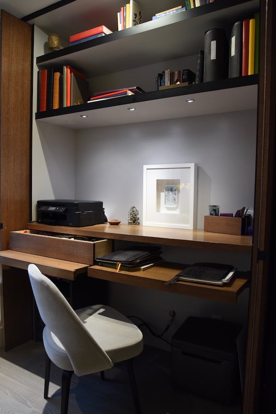 Hidden desk Toronto MacKneson Design Inc