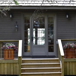 Cottage Entrance Lake of the Woods MacKneson Design Inc