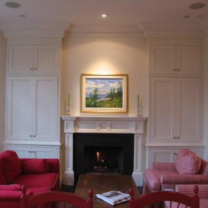 Cabinet fireplace Toronto MacKneson Design Inc
