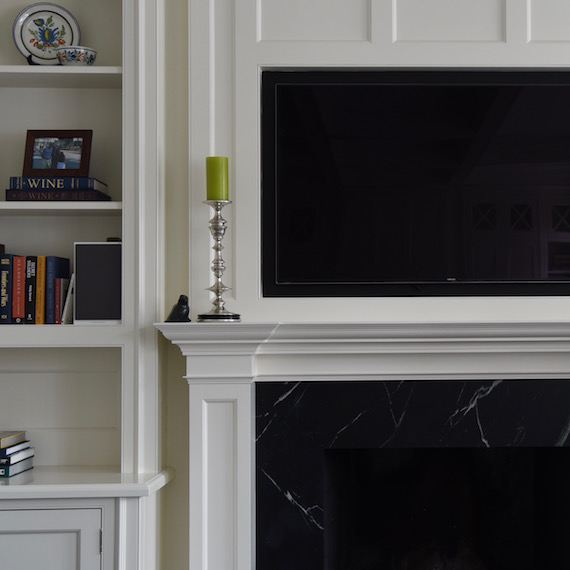 Fireplace Cabinet Toronto Detail MacKneson Design Inc