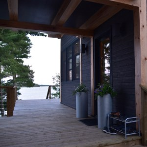 Lake of the Woods Cottage Deck Detail MacKneson Design Inc