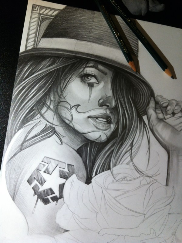 Chicano Art Drawings Girls