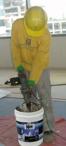Applicator busy at Sun Life of Canada Building