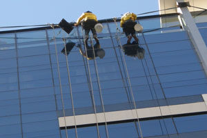 rope access using bosun's chairs