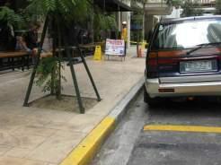 Sidewalk safety during window cleaning