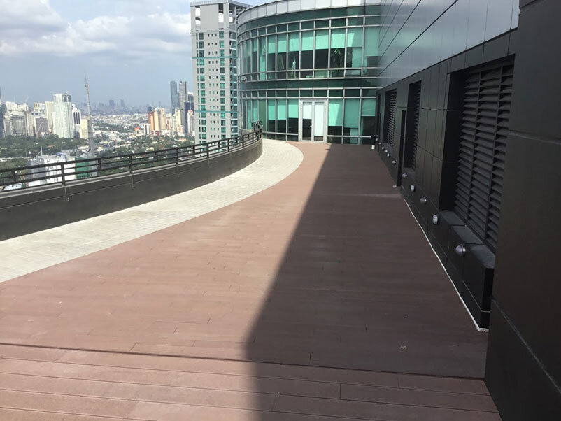 Wood decking over Sika Sarnafil installation