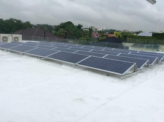 Solar installation on Sarnafil membrane