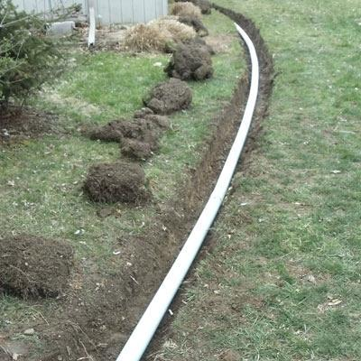 specialized drain tile installation