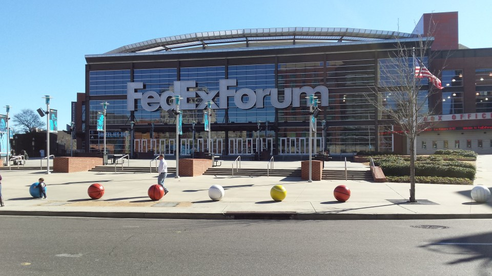 Outside FedEx Forum in Memphis TN