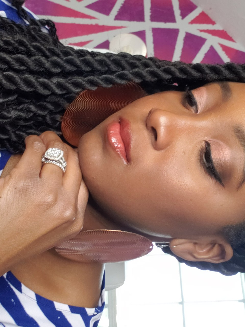 Rope Twists and bronze makeup