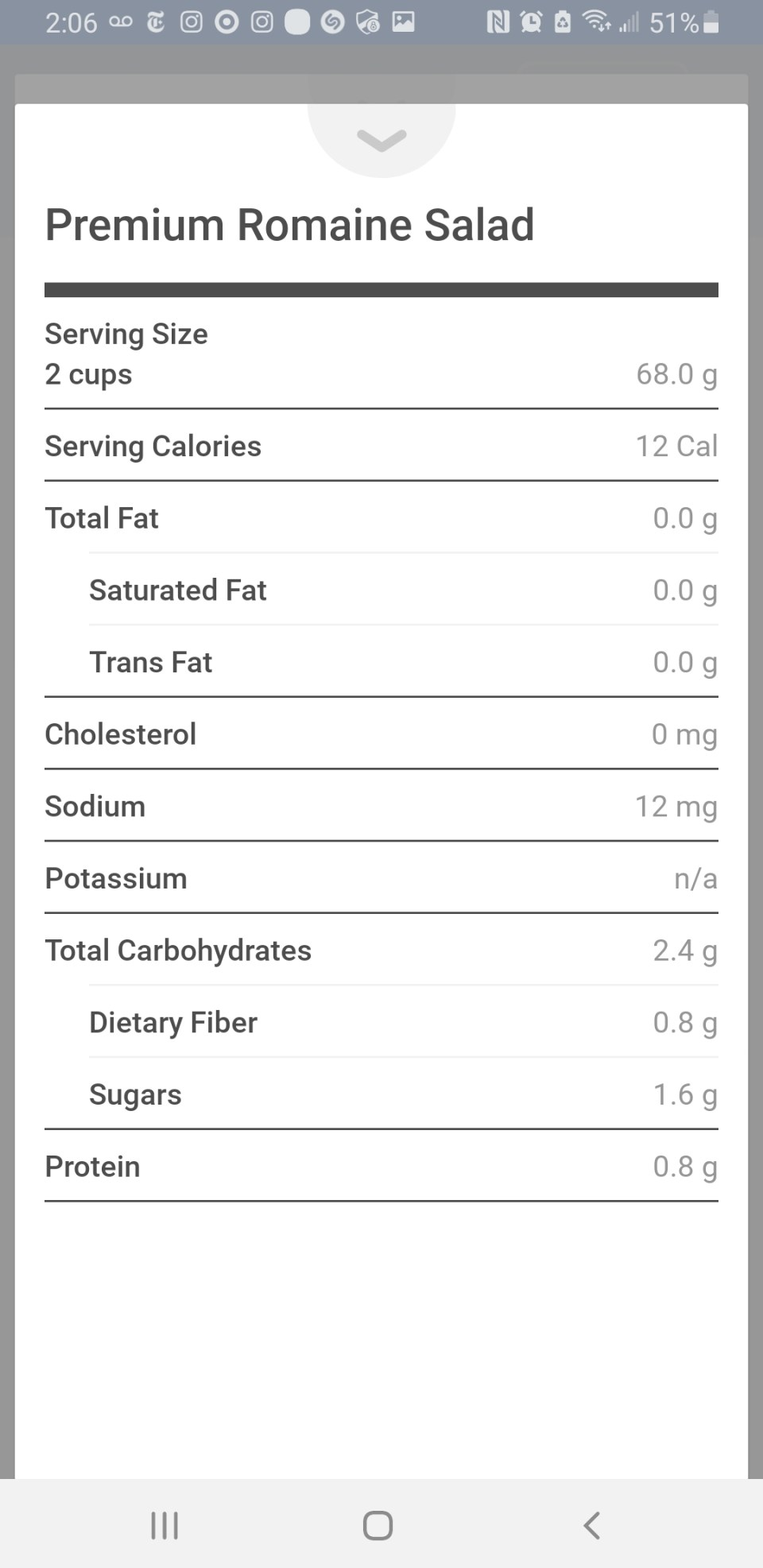 noom nutrition facts