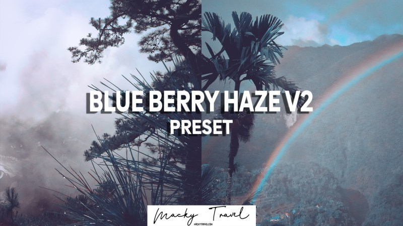 BLUE BERRY HAZE PRESET LIGHTROOM DNG XMP