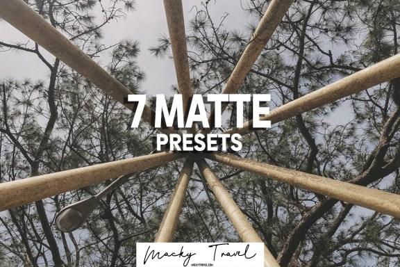 MATTE PRESETS LIGHTROOM DNG XMP