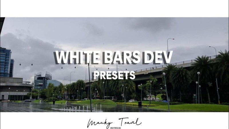 white bars preset