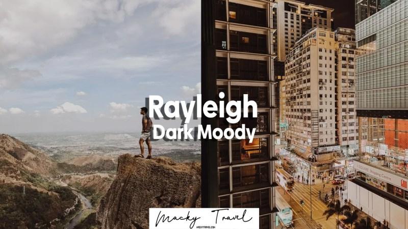 Rayleigh dark moody lightroom preset