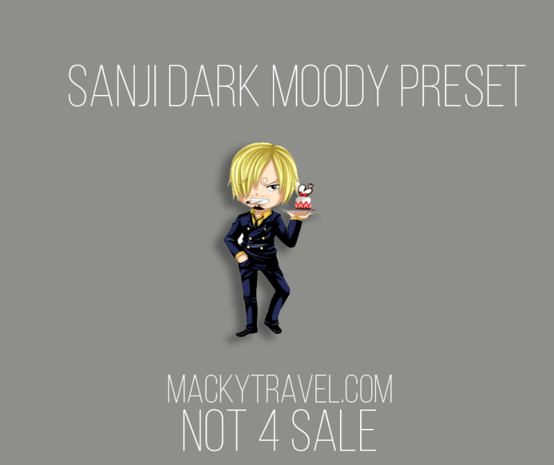 Sanji Dark Moody Lightroom Mobile Preset