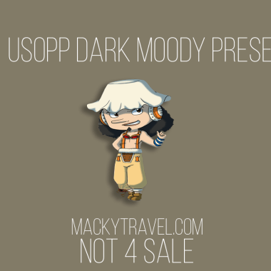 Usopp Dark Moody Lightroom Mobile Preset