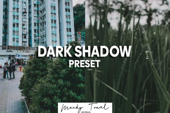 dark shadow lightroom preset