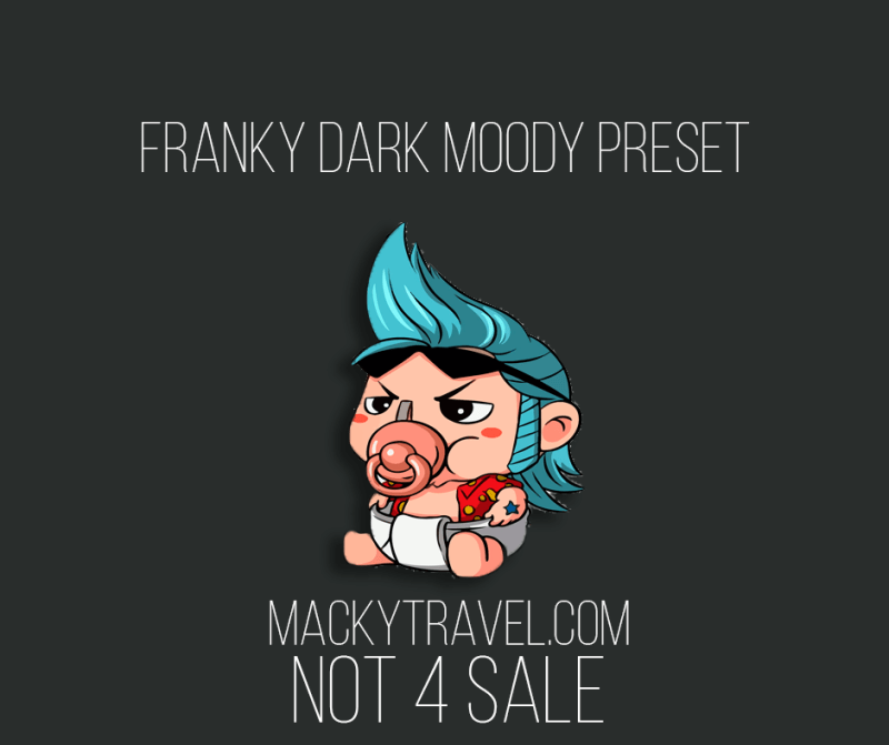 Franky Dark Moody Lightroom Mobile Preset