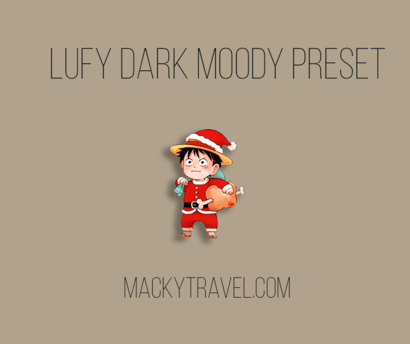 Lufy Dark Moody Lightroom Mobile Preset