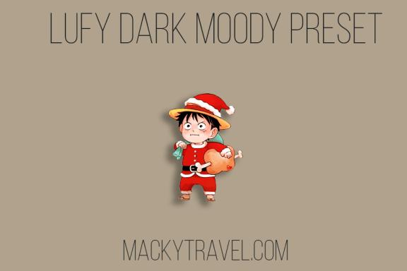 Lufy Dark Moody Lightroom Mobile Preset