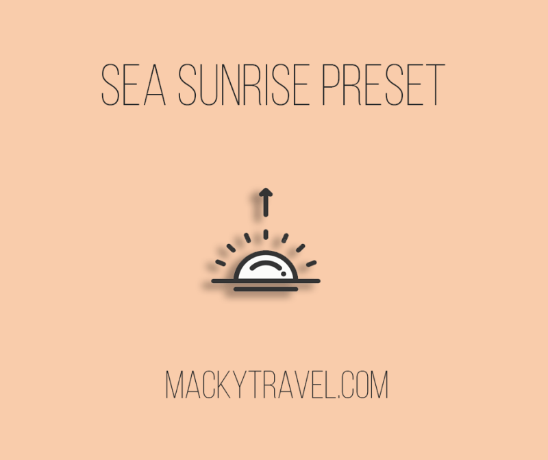 Sea Sunrise Lightroom Mobile Preset