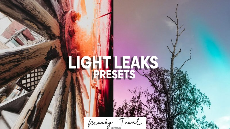 6 light leaks lightroom presets