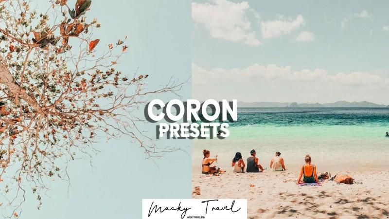 premium coron beach lightroom preset