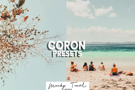 premium coron beach lightroom preset