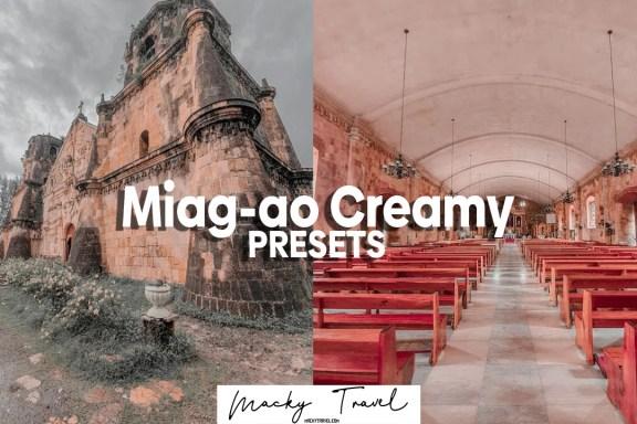 3 Miag-ao Creamy Lightroom presets