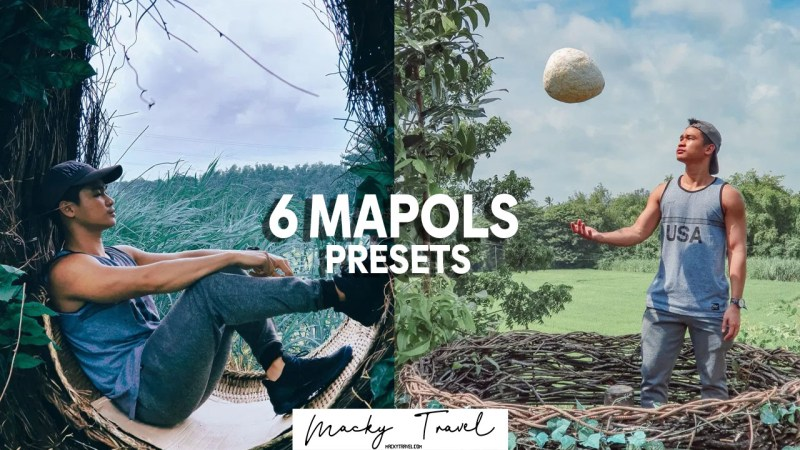6 premium mapols travel lightroom presets