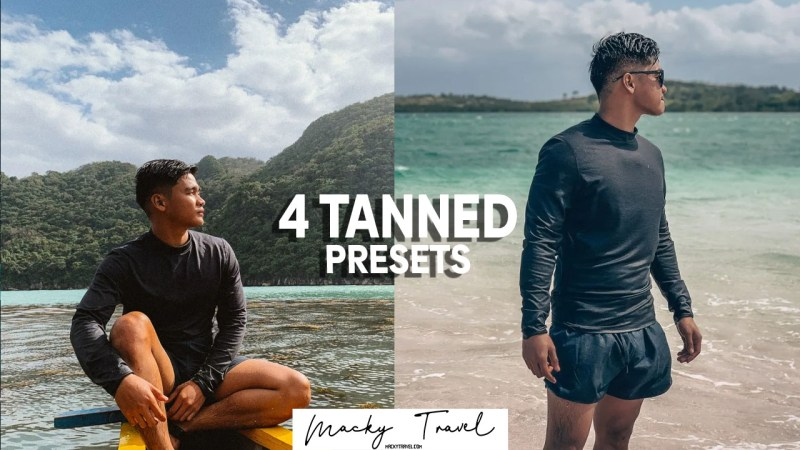4 premium tanned beach lightroom presets
